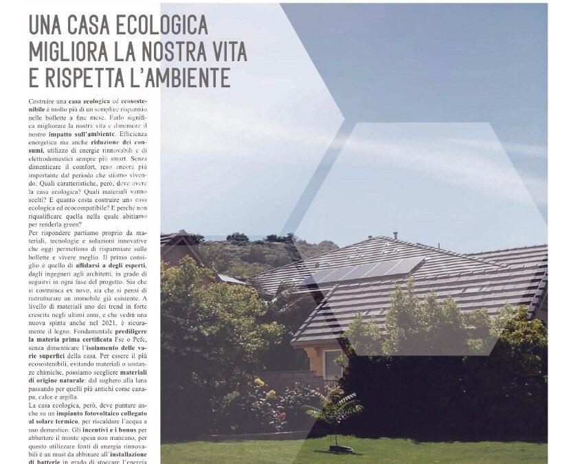 Una casa ecologica migliora la nostra vita e rispetta l'ambiente